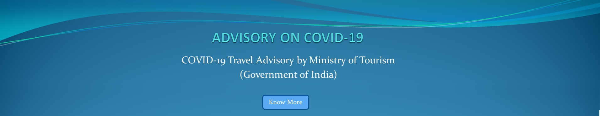 COVID-19 Advisory by Ministry of Tourism, Government of India