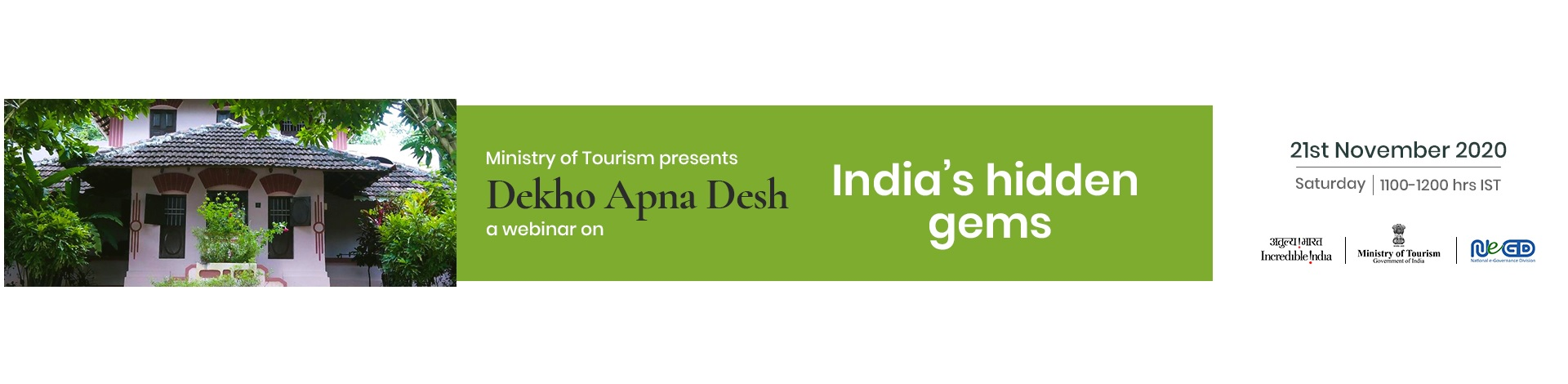 Dekho Apna Desh Webinar on 21th November 2020.
